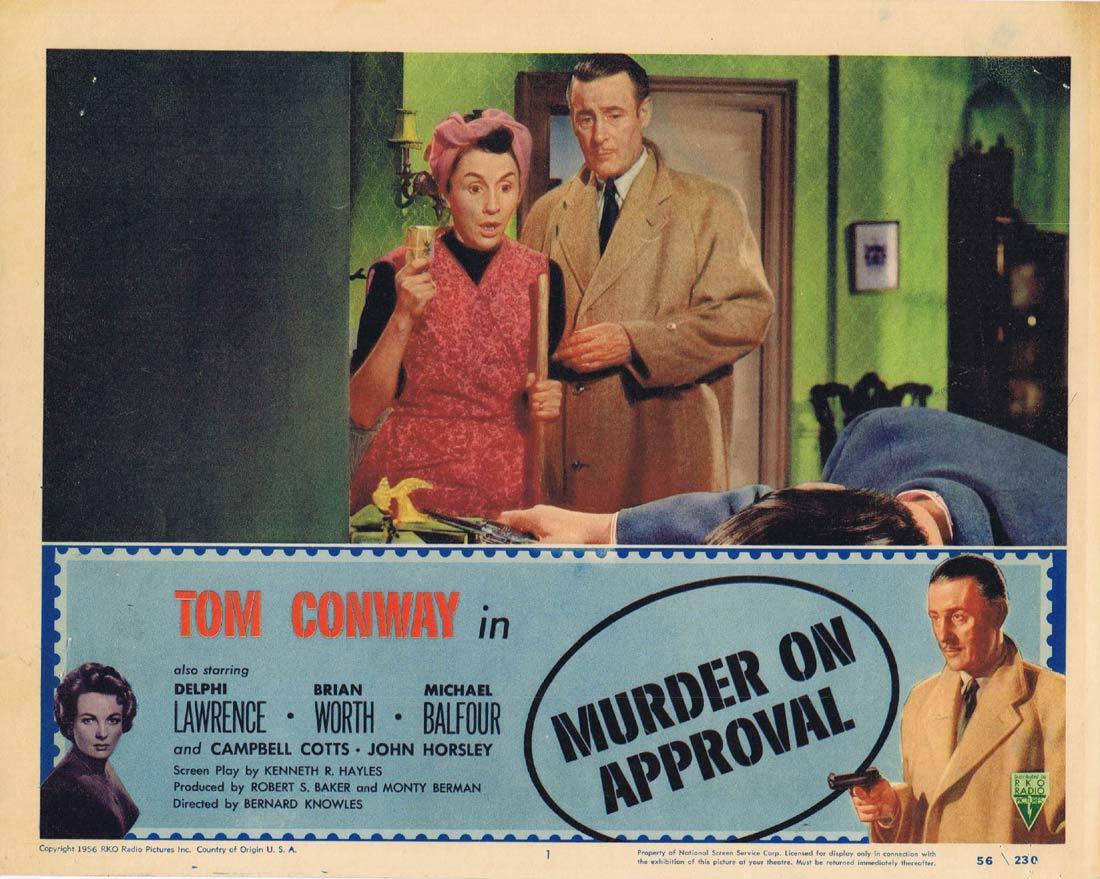 MURDER ON APPROVAL Lobby Card 1 Tom Conway Film Noir RKO