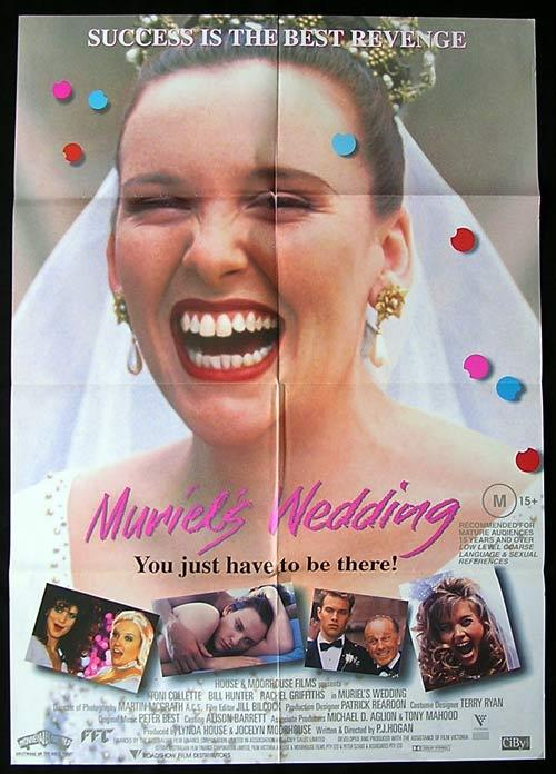 MURIEL'S WEDDING 1994 Toni Collette RARE 1 sheet Movie poster