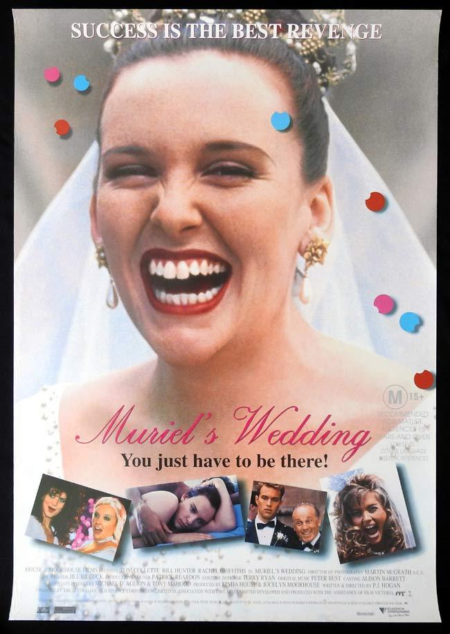 MURIEL'S WEDDING Original One sheet Movie poster Toni Collette