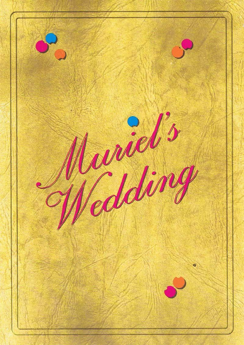 MURIELS WEDDING Original Movie Herald Toni Collette