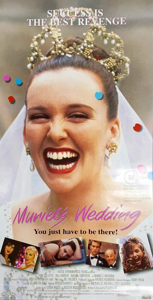 MURIEL'S WEDDING Original Daybill Movie Poster Toni Collette