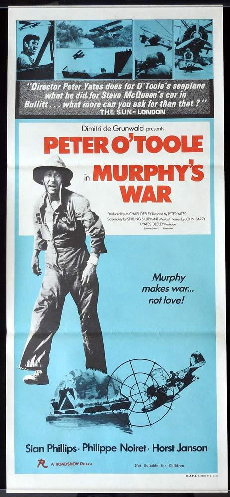 MURPHY'S WAR Peter O'Toole RARE Daybill Movie poster