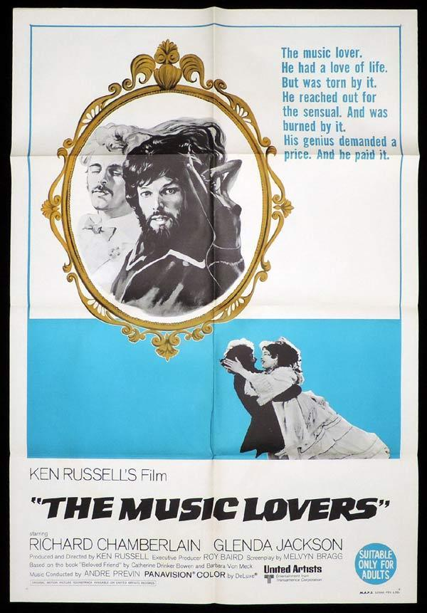 THE MUSIC LOVERS One Sheet Movie Poster Richard Chamberlain Ken Russell