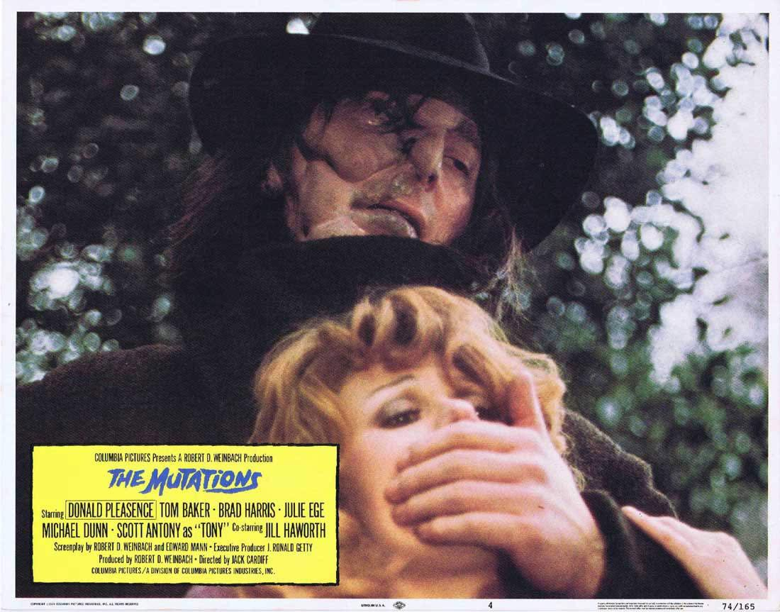 THE MUTATIONS aka FREAKMAKER Lobby Card 4 Donald Pleasence Tom Baker Brad Harris