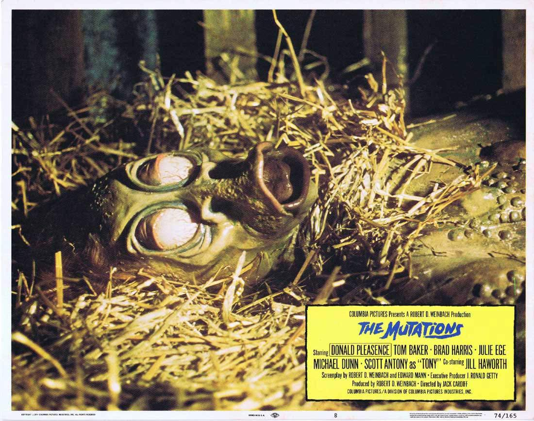 THE MUTATIONS aka FREAKMAKER Lobby Card 8 Donald Pleasence Tom Baker Brad Harris