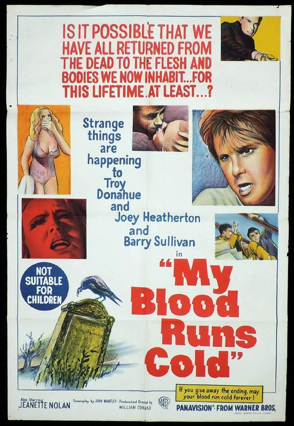 MY BLOOD RUNS COLD One Sheet Movie Poster Film Noir Crime