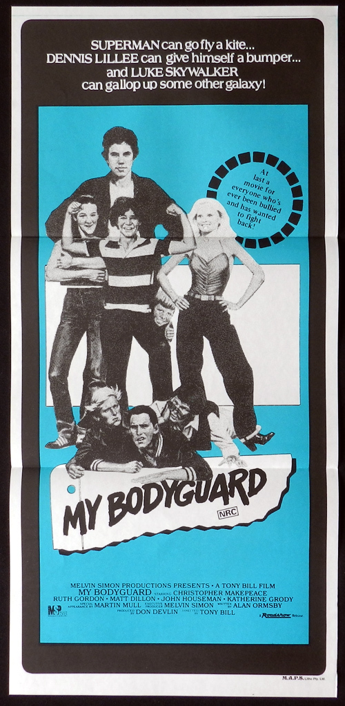 MY BODYGUARD Daybill Movie poster 1980 Chris Makepeace