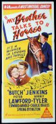 MY BROTHER TALKS TO HORSES Original Daybill Movie Poster Peter Lawford