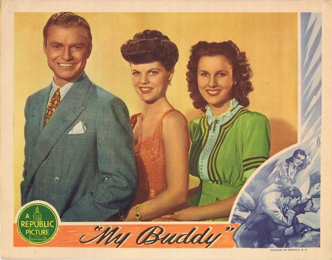 "MY BUDDY Lobby Card Don ""Red"" Barry Ruth Terry Lynne Roberts"