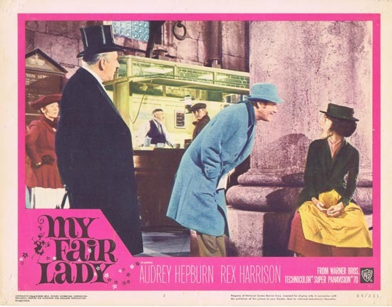 MY FAIR LADY 1964 Audrey Hepburn Lobby Card 3