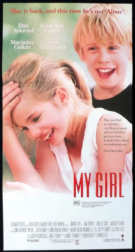 MY GIRL Original Daybill Movie Poster Macaulay Culkin