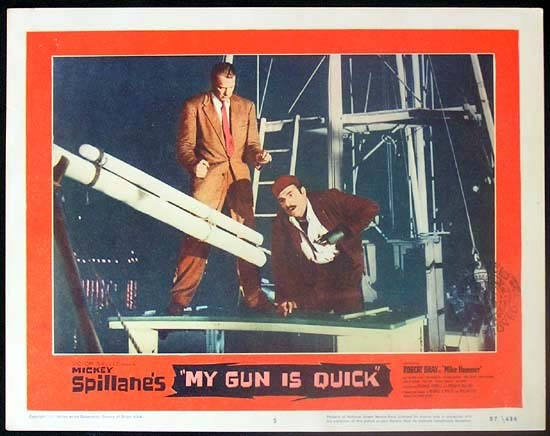 MICKEY SPILLANE'S MY GUN IS QUICK 1957 Mike Hammer RARE Lobby card 5
