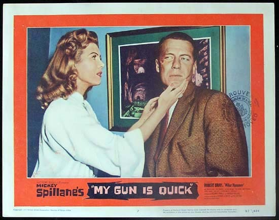 MICKEY SPILLANE'S MY GUN IS QUICK 1957 Mike Hammer RARE Lobby card 7