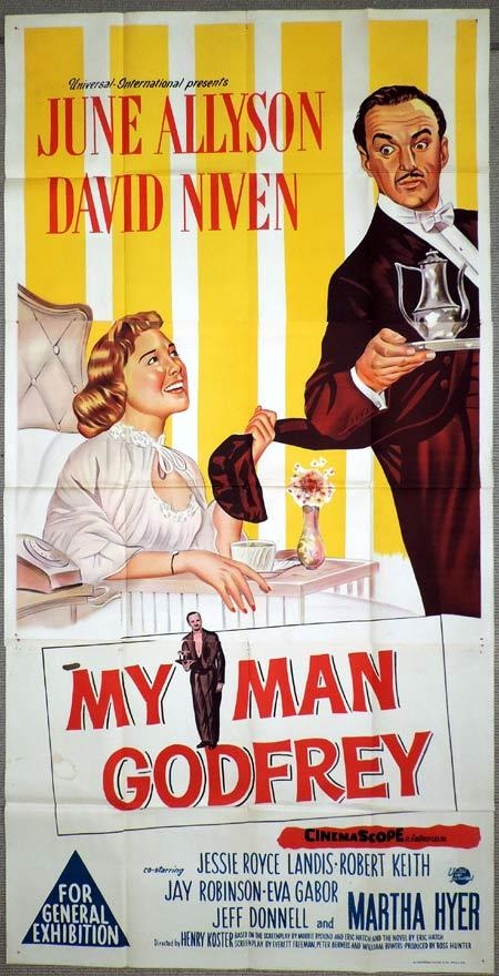 MY MAN GODFREY Original 3 Sheet Movie Poster David Niven