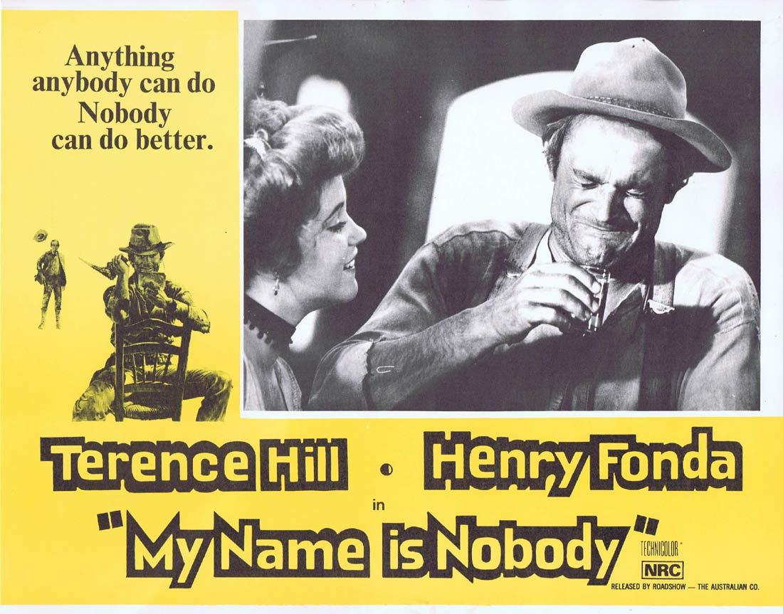 MY NAME IS NOBODY Lobby Card 5 Terence Hill Henry Fonda