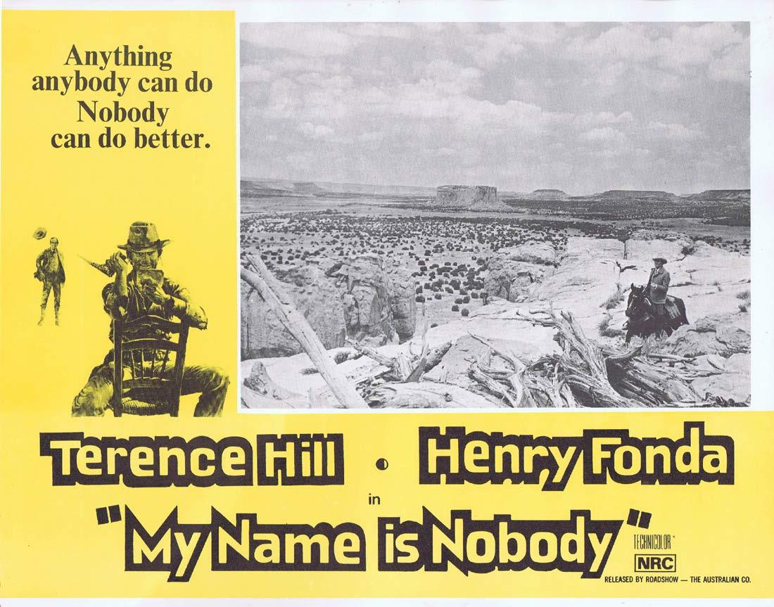 MY NAME IS NOBODY Lobby Card 6 Terence Hill Henry Fonda