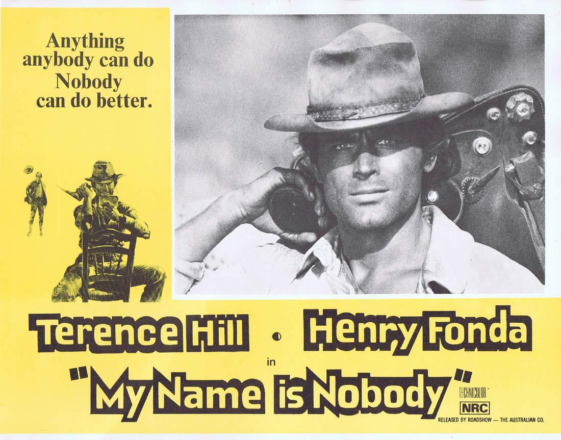 MY NAME IS NOBODY Lobby Card 7 Terence Hill Henry Fonda