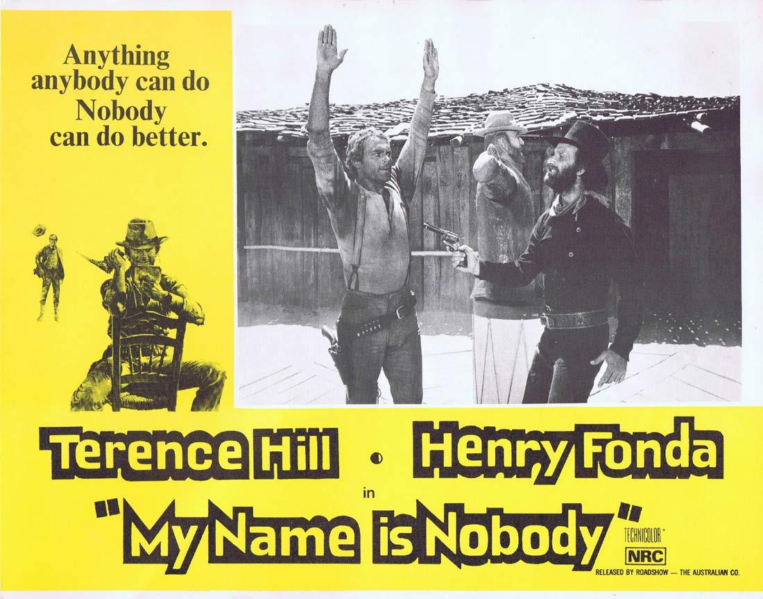 MY NAME IS NOBODY Lobby Card 8 Terence Hill Henry Fonda