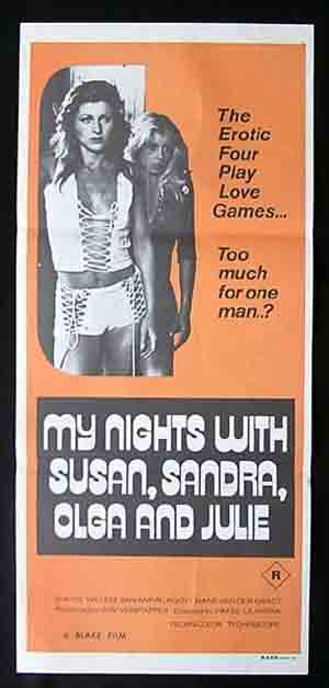 MY NIGHTS WITH SUSAN, SANDRA, OLGA & JULIE '75-daybill