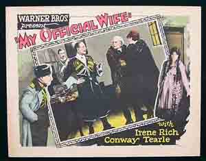 MY OFFICIAL WIFE, 1926, Silent film, Movie Poster, Lobby Card