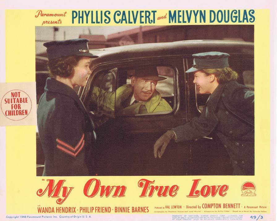 MY OWN TRUE LOVE Lobby card 4 Phyllis Calvert Melvyn Douglas