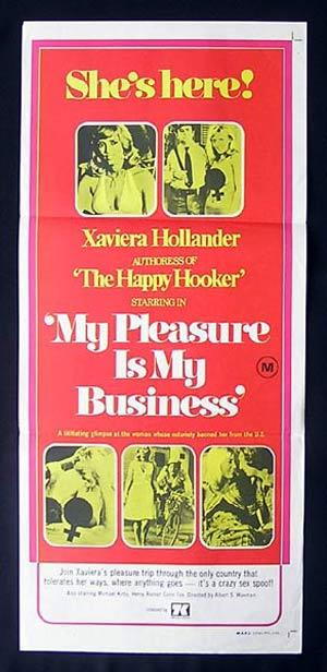 MY PLEASURE IS MY BUSINESS 75-Xaviera Hollander daybill