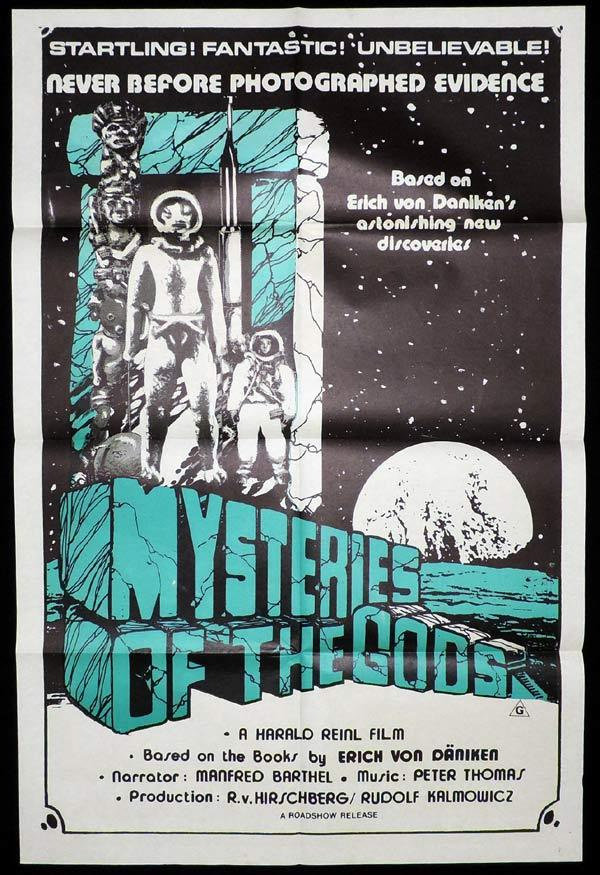 MYSTERIES OF THE GODS One Sheet Movie Poster Erich Von Daniken