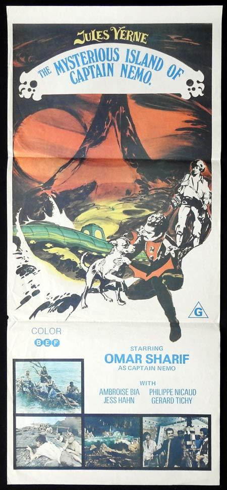 THE MYSTERIOUS ISLAND OF CAPTAIN NEMO Daybill Movie poster Omar Sharif