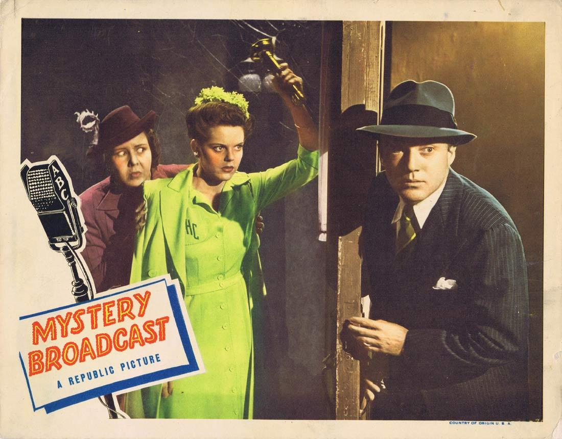MYSTERY BROADCAST Lobby Card 5 Frank Albertson Ruth Terry Nils Asther