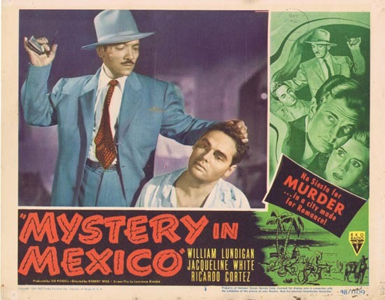 MYSTERY IN MEXICO 1948 Film Noir William Lundigan Lobby Card 3