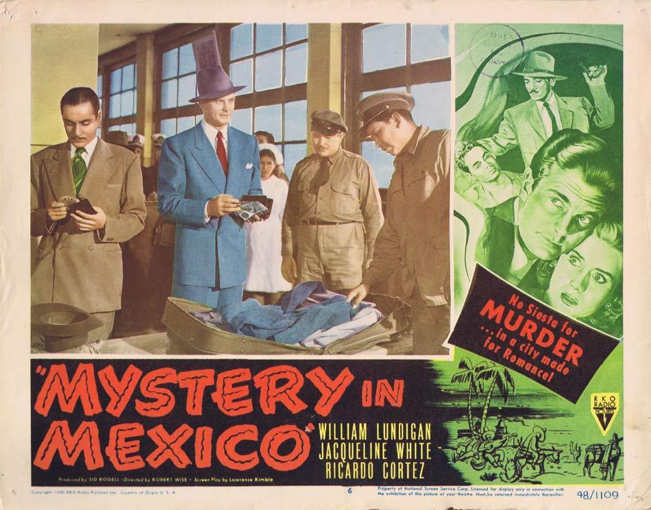MYSTERY IN MEXICO Lobby Card William Lundigan RKO Film Noir