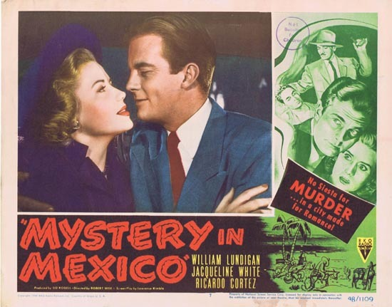 MYSTERY IN MEXICO 1948 Film Noir William Lundigan Lobby Card 7