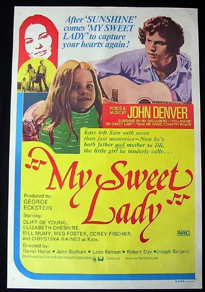 MY SWEET LADY Original One sheet Movie poster Cristina Raines Cliff De Young
