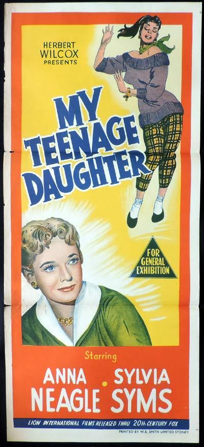 MY TEENAGE DAUGHTER Daybill Movie Poster Anna Neagle