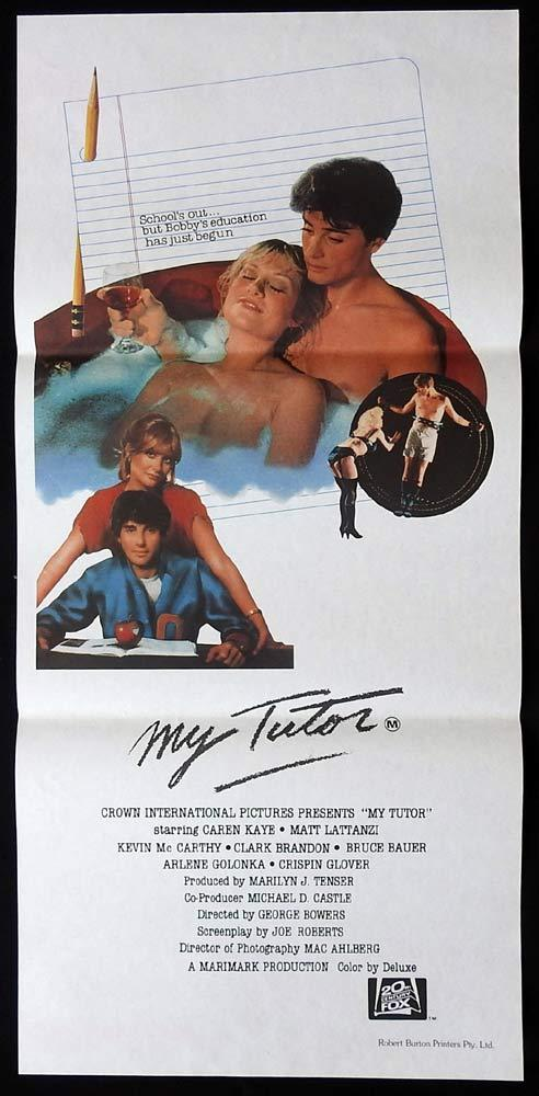 MY TUTOR Original Daybill Movie Poster Matt Lattanzi Caren Kaye Kevin McCarthy