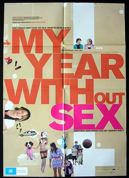 MY YEAR WITHOUT SEX Movie Poster 2009 Matt Day Australian One sheet