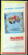 NADINE Original Daybill Movie Poster Jeff Bridges Kim Basinger.