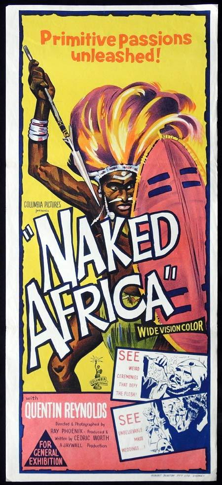 NAKED AFRICA Original Daybill Movie Poster Quentin Reynolds Documentary