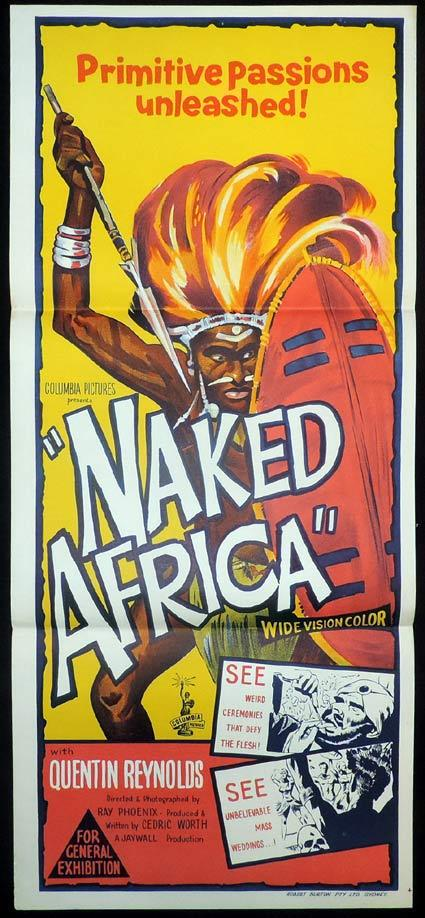NAKED AFRICA aka MONDO AFRICANA Daybill Movie poster 1957 Documentary