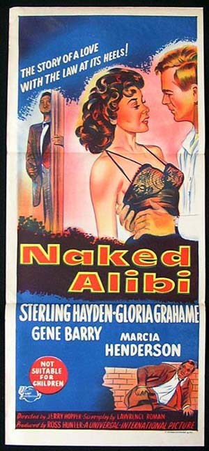 THE NAKED ALIBI 1946 Gloria Grahame FILM NOIR daybill