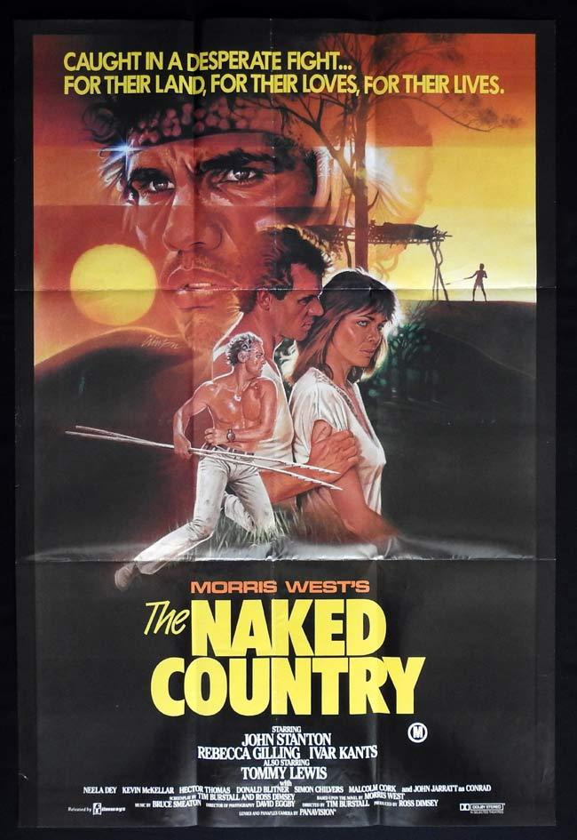 THE NAKED COUNTRY One sheet Movie poster  John Stanton Rebecca Gilling