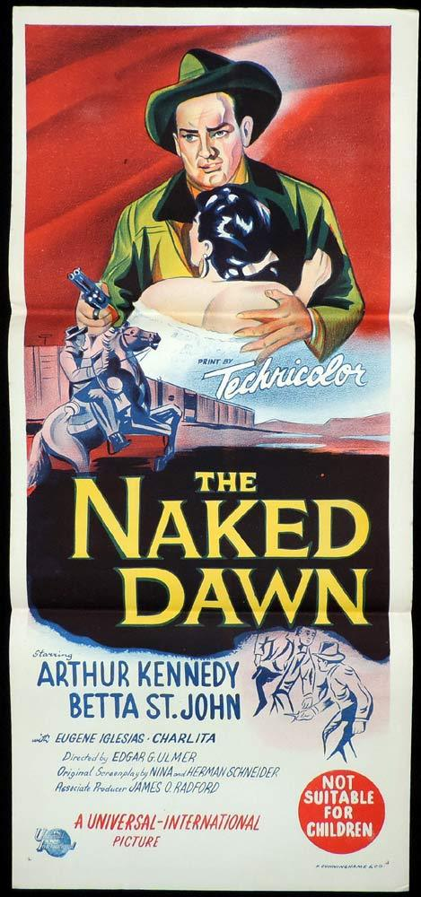 THE NAKED DAWN Original Daybill Movie Poster Edgar Ulmer Arthur Kennedy