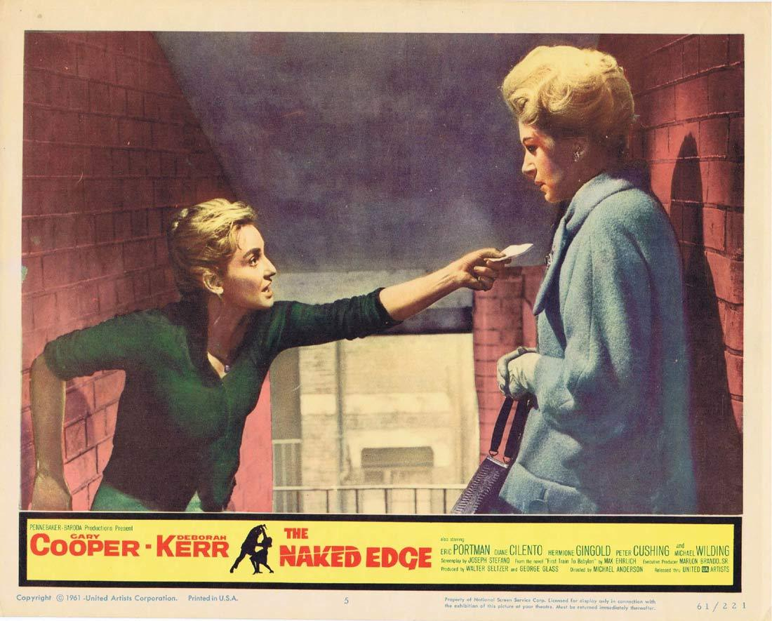 THE NAKED EDGE Vintage Lobby Card 5 Gary Cooper Deborah Kerr