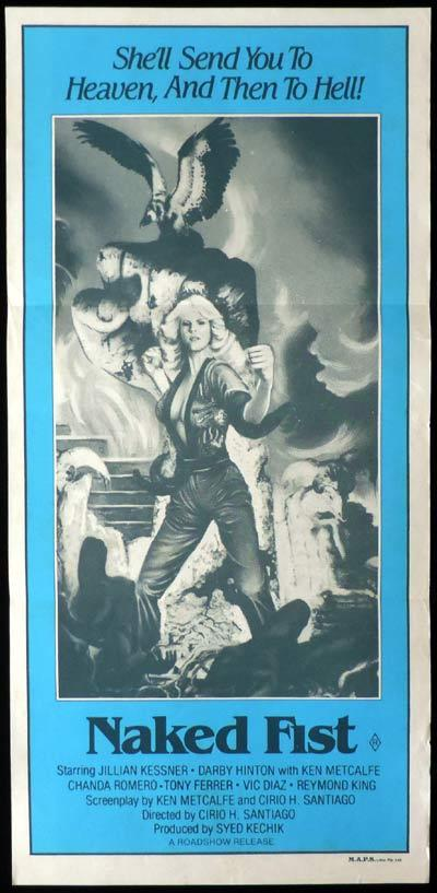THE NAKED FIST aka FIRECRACKER Daybill Movie Poster Jillian Kesner