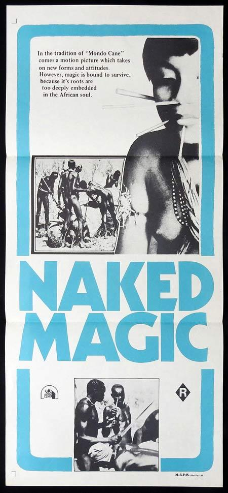 NAKED MAGIC 1975 aka SHOCKING CANNIBALS Daybill Movie poster