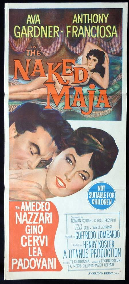 THE NAKED MAJA Original Daybill Movie Poster Ava Gardner Anthony Franciosa
