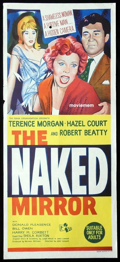 THE NAKED MIRROR Original Daybill Movie Poster Terence Morgan Hazel Court