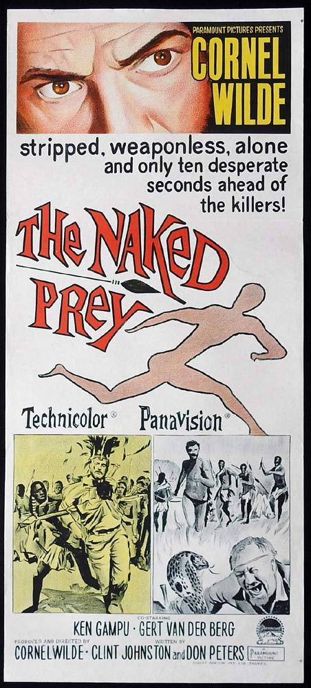 THE NAKED PREY Original Daybill Movie Poster Cornel Wilde Gert van den Bergh