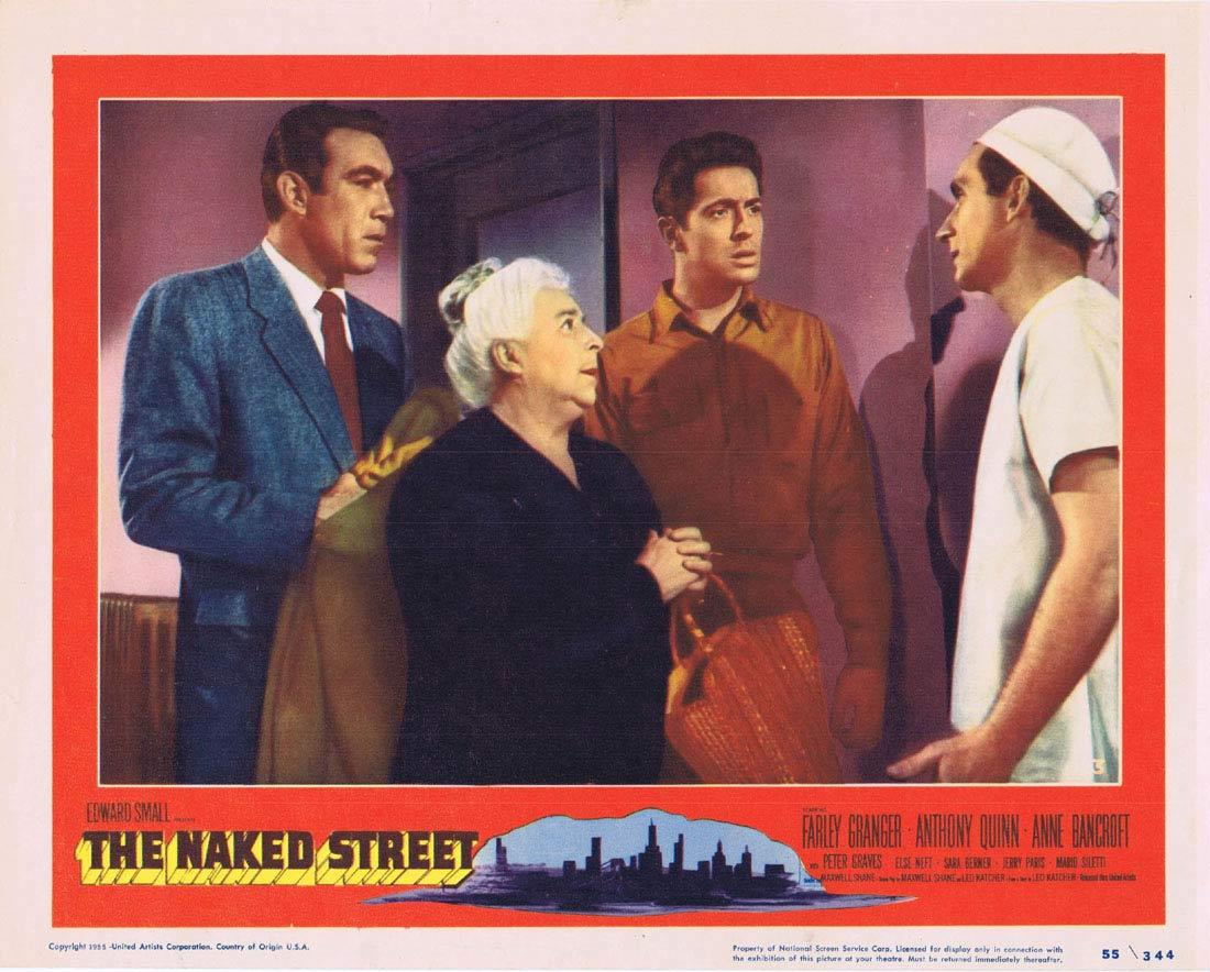 THE NAKED STREET Lobby Card 3 Farley Granger Anthony Quinn Anne Bancroft