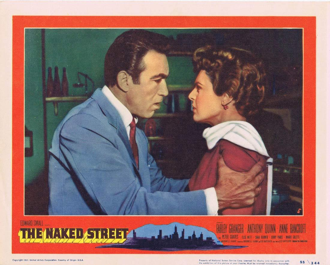 THE NAKED STREET Lobby Card 5 Farley Granger Anthony Quinn Anne Bancroft